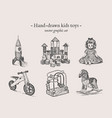 toys hand-drawing set vector image vector image