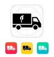 Truck with eco icon vector image