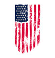 usa flag in grunge style design element vector image vector image