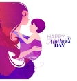 watercolor effect of mother vector image vector image