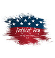 we will never forget patriot day vintage label vector image vector image