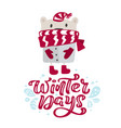 winter days calligraphy lettering christmas text vector image vector image