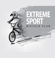 words extreme sport and a cyclist on bike vector image