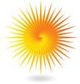 Yellow orange sun vector image
