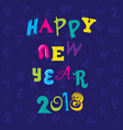 happy new year 2018 poster design vector image