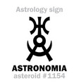 astrology asteroid astronomia vector image vector image