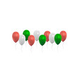 balloons set in red green and white grey colors vector image