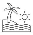 beach thin line icon travel and vacation sea vector image vector image
