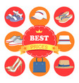 best prices poster and icons vector image vector image
