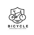 bike badge outline vector image vector image