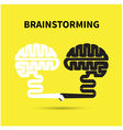 Brainstorming concept vector image vector image