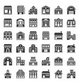 building construction icon set solid style vector image