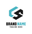 business logo design letters ls vector image vector image