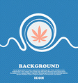 Cannabis leaf sign icon Blue and white abstract vector image