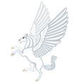Cartoon Pegasus vector image