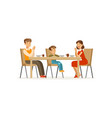 catholic family praying before meal father vector image vector image