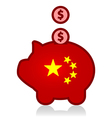 China and United States debt vector image vector image
