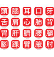 chinese word logo-16 vector image vector image