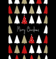 christmas greeting card with trees pattern vector image vector image
