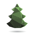 Christmas tree abstract isolated vector image vector image