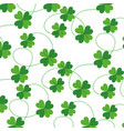 clovers leafs isolated icon vector image