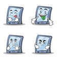 collection stock tablet character cartoon style of vector image vector image
