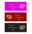 colorful banners set for valentines day vector image vector image