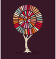 Colorful ethnic style concept tree vector image