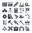 Construction Cool Icons 4 vector image vector image