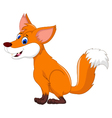 cute fox cartoon for you design vector image vector image