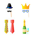 design of party and birthday icon set of vector image