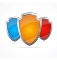 Empty metal shields Protection concept vector image vector image