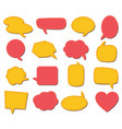 fabric speech bubbles for talk and speech vector image vector image