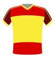 flag t-shirt of spain vector image vector image