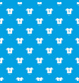 football shirt pattern seamless blue vector image