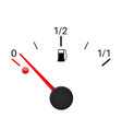 fuel gauge empty tank vector image