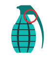 grenade icon flat color style military army vector image vector image