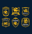griffin and dragon heraldic icons vector image vector image