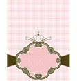 hand draw doves on pink checked background vector image