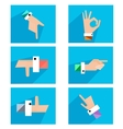Hands showing symbolic icons vector image vector image