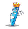 king trimmer mascot cartoon style vector image