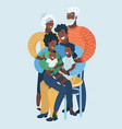 large family portrait african people vector image
