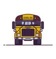 line classic yellow school bus vector image vector image
