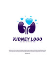 love kidney logo design concept urology logo vector image