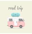 mini caravan trailer with baggage box vector image