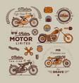 motorbike badget set vector image