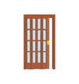 Opened door icon cartoon style vector image vector image