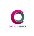 optic center badge vector image