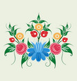 ornament in style of russian national tradition vector image vector image