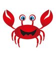 red crab cartoon vector image